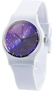 Tonnier Relojes de resina super suave banda estudiante Relojes para  adolescentes jóvenes niñas Starry ecd000c8c9b5