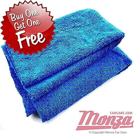 Monza microfibra profesional grado Edgeless coche toalla de secado (* * Comprar 1 GET 1 FREE oferta * *: Amazon.es: Coche y moto