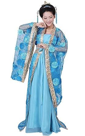 springcos Chinese Costume Fancy Dress Women Princess Dress Trailing Empress Blue  sc 1 st  Amazon.com & Amazon.com: springcos Chinese Costume Fancy Dress Women Princess ...