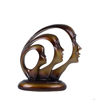 Amazon Com Decorative Abstract Face Statue Bronze L23cm W11cm