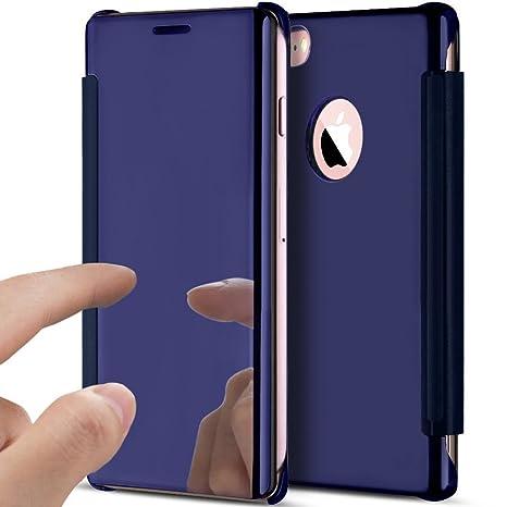 YSIMEE Funda iPhone 5S/iPhone SE,Carcasa Clear View Cover ...