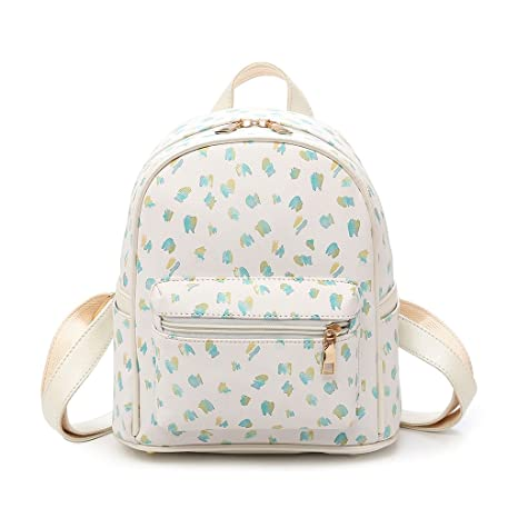 Image Unavailable. Image not available for. Color  Yeahii PU Leather Lovely  Printing Feminine Backpack ... f4bd8f7d21