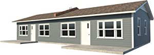 One Story Duplex House Plans DIY 1 Bedroom Tiny Home Building Plan