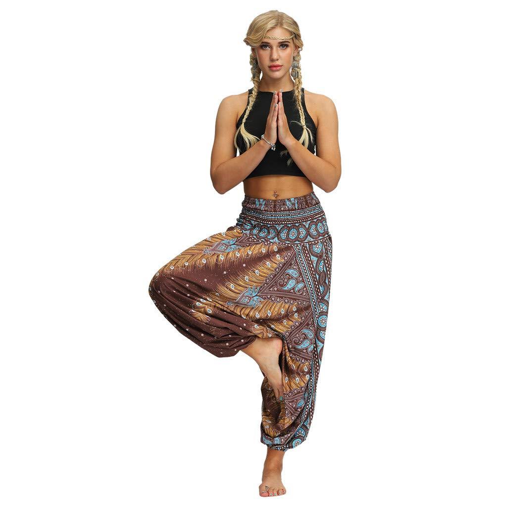 Yoga Pantaloni Donna Pantaloni Etnica Harem Pant LANSKRLSP Pantaloni Harem Yoga Uomo Donne Thai Harem Pantaloni Boho Festival Hippy Grembiule Vita Alta Yoga Pantaloni