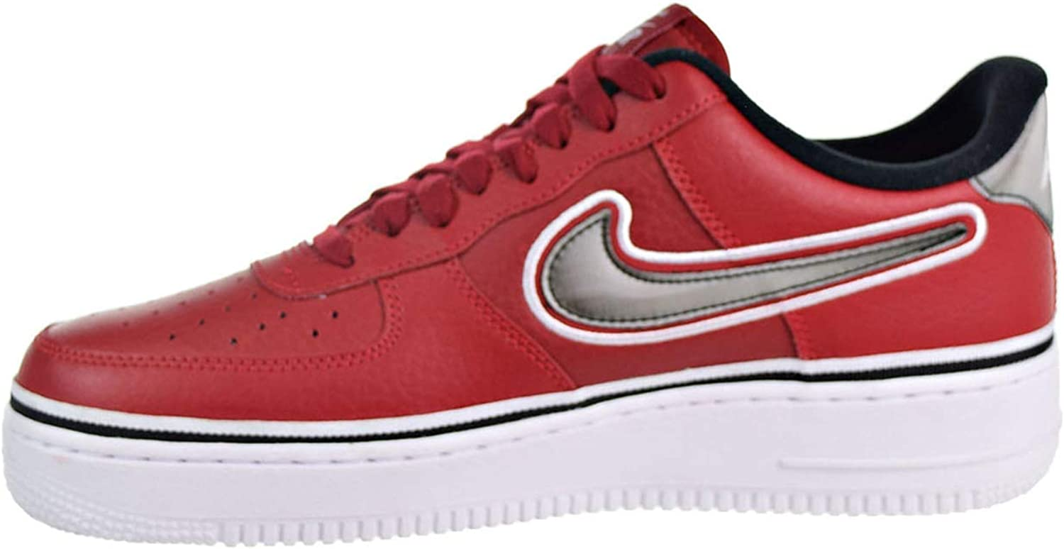 Nike Air Force 1 '07 Lv8 Sport, Chaussures de Fitness Homme Multicolore Varsity Red Black White 600