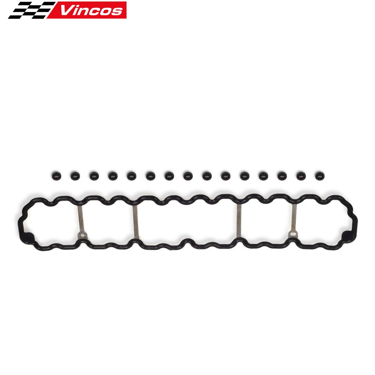 Vincos Engine Cylinder Valve Cover Gasket Replacement For 96-01 Jeep Cherokee Wrangler Grand 4.0L L6 VS50458R