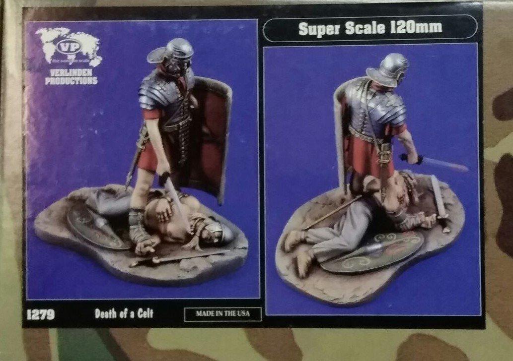 Verlinden 1279 rouomo soldier death of a celt in resina da montare e dipingere super scale 120mm