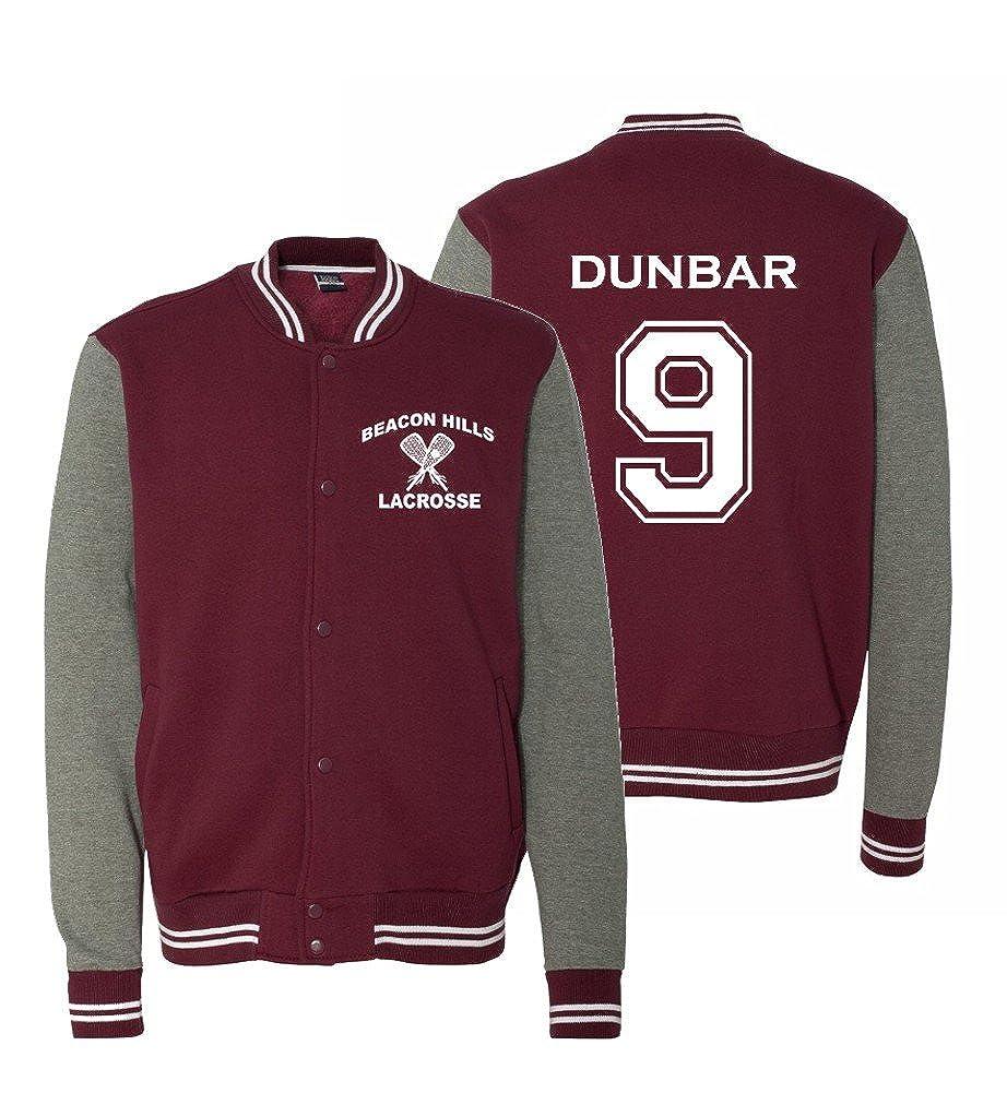 Adult Teen Wolf Beacon Hills 2-Sided Dunbar Sweatshirt Jacket Maroon) Jk-BH092369-mrXXL