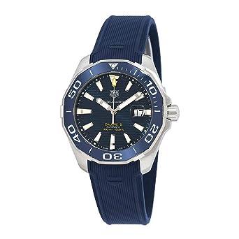 fotos oficiales fef78 70e3a Tag Heuer Aquaracer Calibre 5 Automatic Blue Dial Mens Watch ...