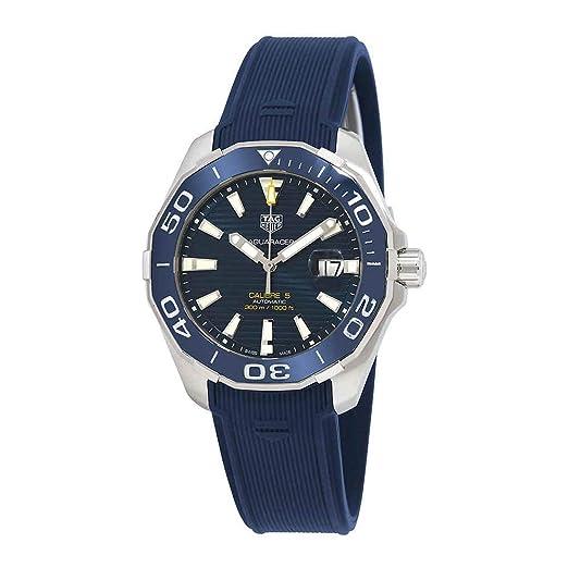 Tag Heuer Aquaracer Calibre 5 Reloj automático Azul para Hombre WAY201B.FT6150: Amazon.es: Relojes