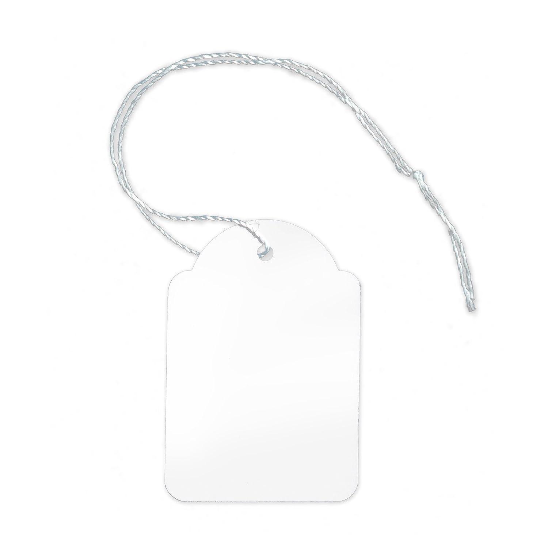 dimensioni: 36/x 53/mm 1.000/etichette in cartoncino con filo H-3653F ideali per indicare il prezzo di gioielli o bigiotteria