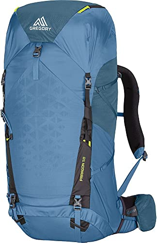 Gregory Mountain Products Paragon 58 Liter Men's Lightweight Multi Day Backpack Raincover Included,Hydration Sleeve and Day Pack Included, Lightweight Construction Lightweight Comfort on the Trail