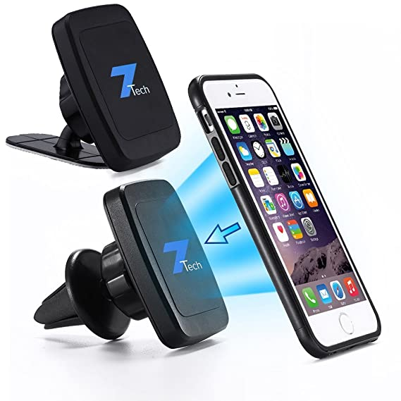 huge discount 2b0ea 60930 Magnetic Phone Car Mount 2in1 Design, Fits Air Vent, Windshield and  Dashboard, Cell Phone Holder for Android and Apple.