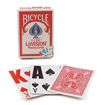 Bicycle Lo Vision Playing Cards (Pack of 2): Sports & Outdoors