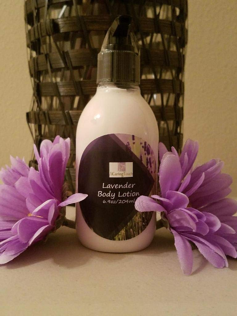 Lavender Body Lotion by A Caring Touch Skin Therapy, Inc.6.9 fl oz made with nourishing butters - Unrefined Organic Shea Butter, Mango Butter