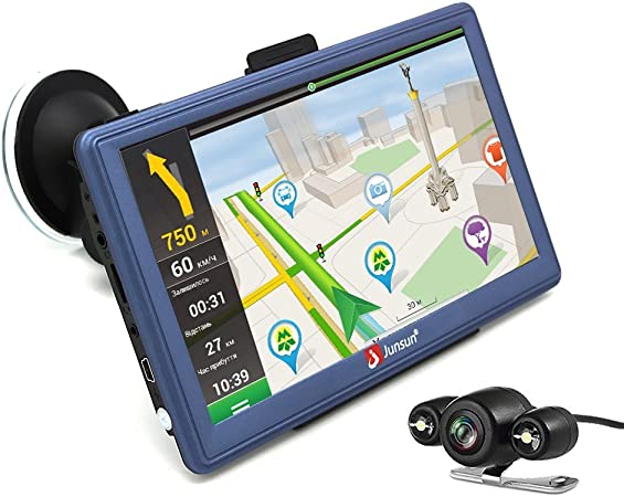 Amazon Com Gps Navigation For Car 7 Inch Android Gps Navigation With Bluetooth Built In Wifi Fm 3d Sat Nav Navigator With Lifetime Maps Gps Navigation