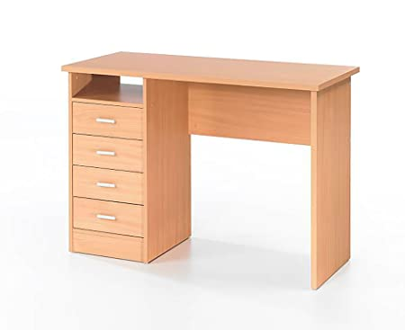 home office drawers. Wessex Home Office Desk With 4 Drawers - Color: Beech Effect