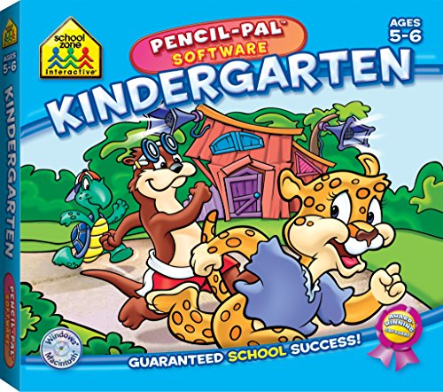 - School Zone - Kindergarten Pencil-Pal Software, Ages 5 to 6, Letters, Numbers, Patterns, Puzzles, Sequencing, Rhyming, and More