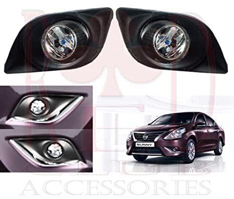 Redclub Fog Light Clear Colour For Nissan Sunny With A Fuel Tank