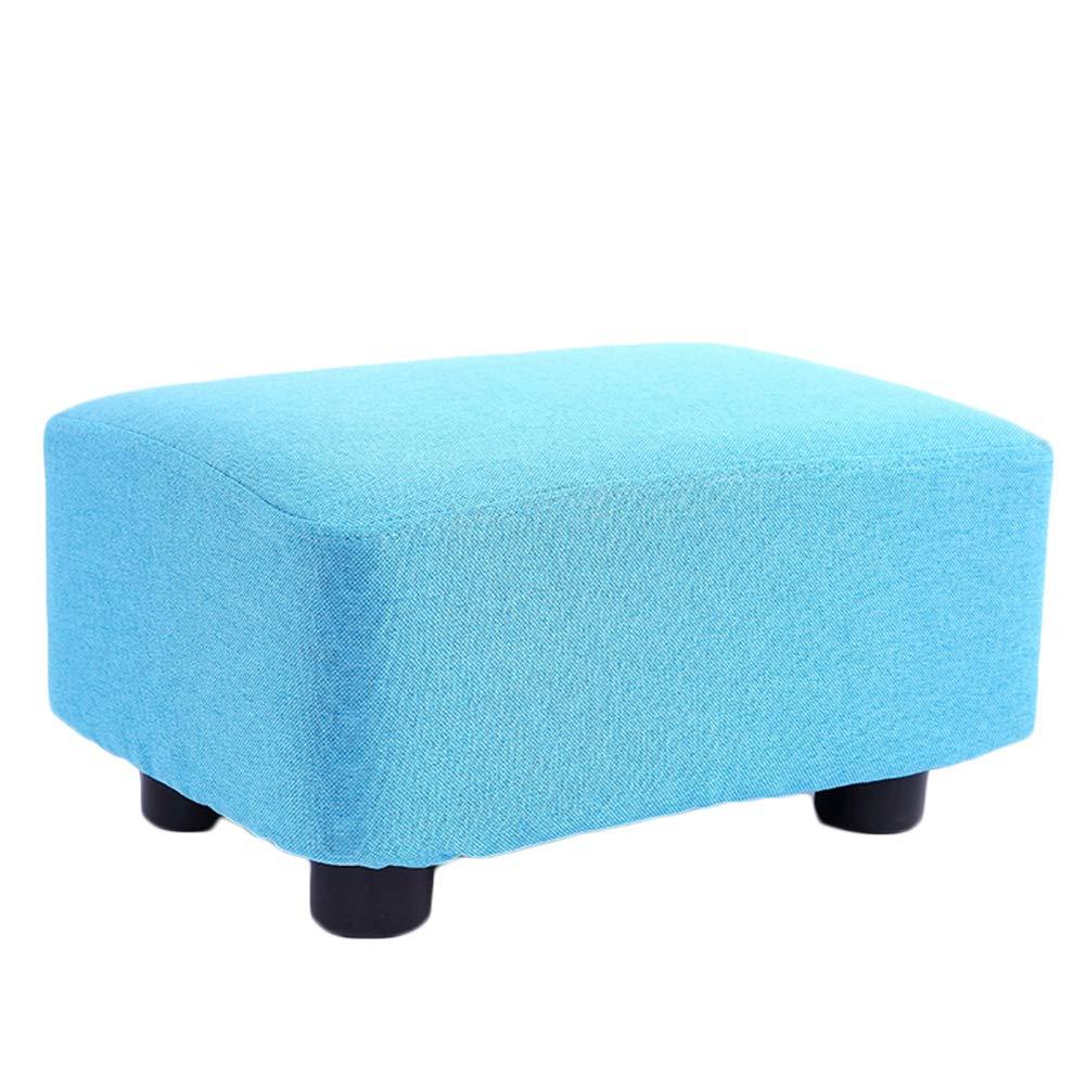 I 38x27x20cm JIANFEI Footstool Solid Wood Stool Legs High Elasticity Sponge mats Wear Resistant Load Bearing 200KG, 10 colors (color   F, Size   38x27x20cm)