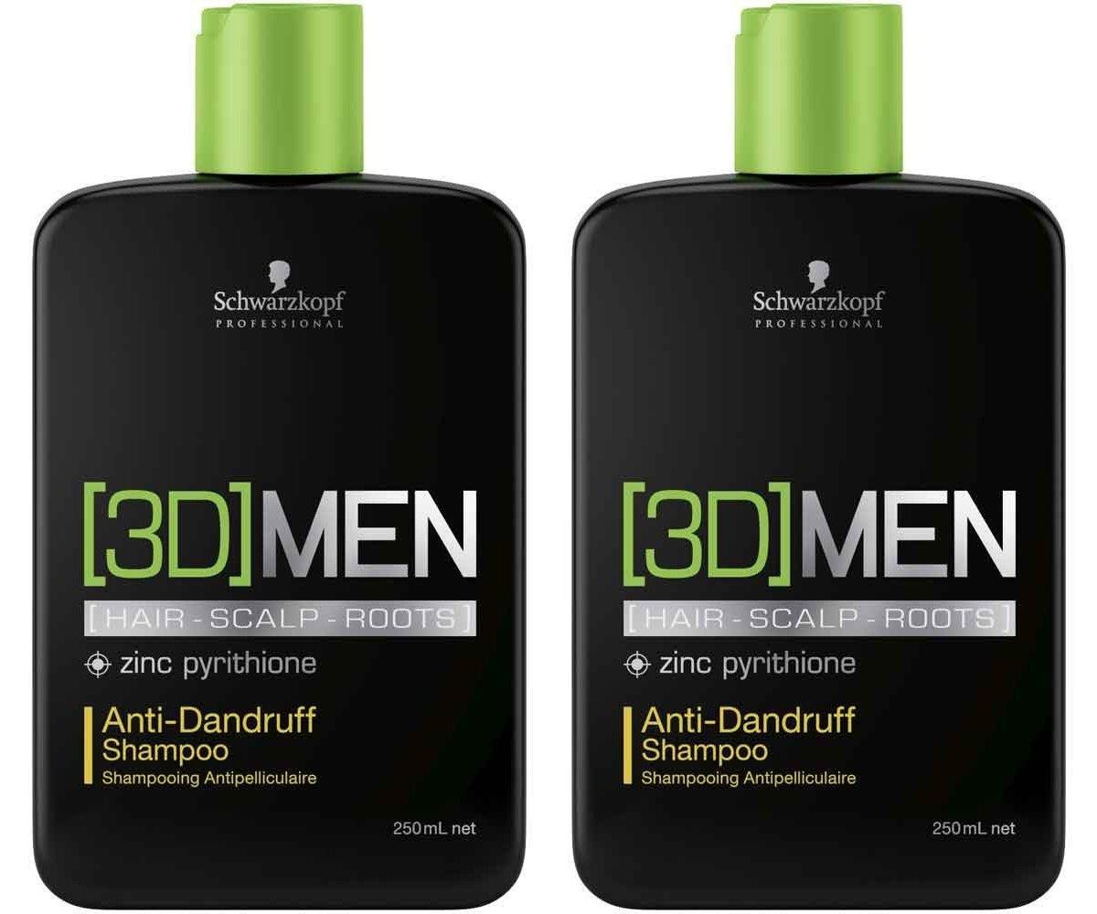Schwarzkopf 3d Men Anti Cobertizos Champú 2 x 250 ml=500 ml: Amazon.es: Belleza