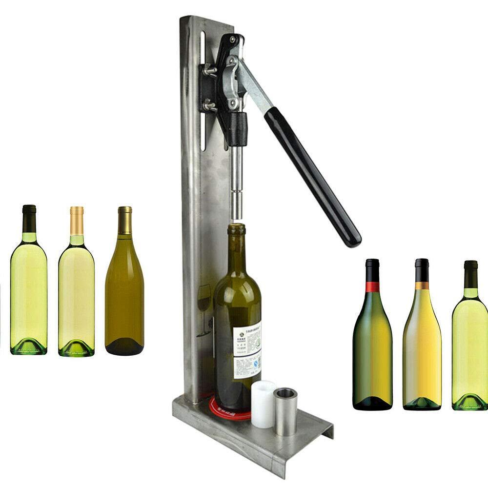 Manual Bottle Corking Machine Brew Wine Bottle Cap Pressing Machine 2 POM heads Suitable for 200ml / 375ml / 500ml / 750ml bottle by GDAE10