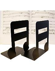 Winterworm Un Paio di Musica a Tema fermalibri in Solido Metallo leggio per Bambini Music Lover Home Office Decorazione Semiquaver