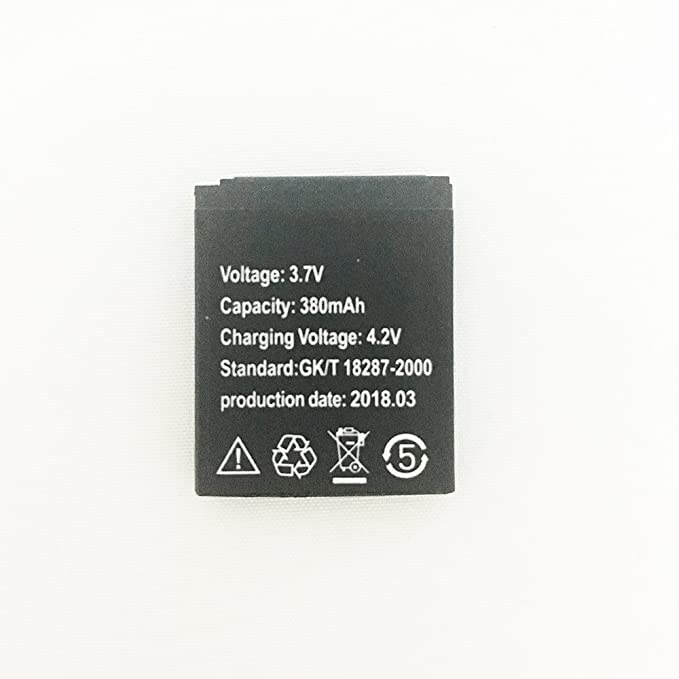 Smart watch 3.7V Lithium battery 380MAH for A1/G10/G10A smart watch