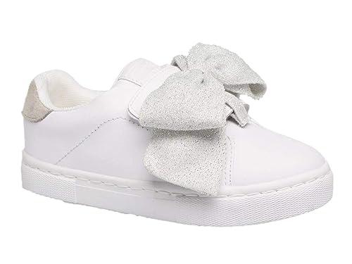 GIOSEPPO 46728 - Zapatillas Deportivas Casual Infantil niña Blancas Lazo con Doble Velcro otoño-Invierno - Blanco, Talla 25: Amazon.es: Zapatos y ...