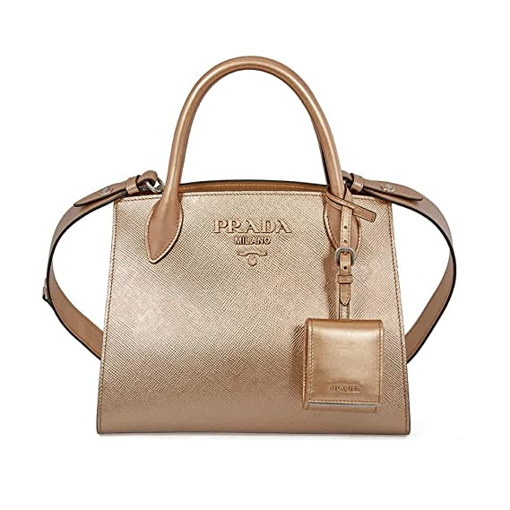 f538986d5f8f Prada Saffiano Leather Shoulder Bag- Monochromatic Quartz  Amazon.ca   Watches
