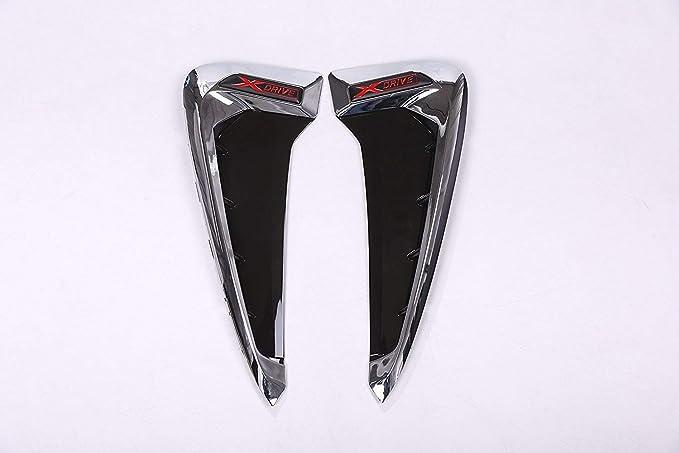 YIWANG Shark Gills Side Decoration Fender Vent Trim 2pcs For BMW Xdrive Logo Emblem X5 F15 X5M F85 2014-2018 matte