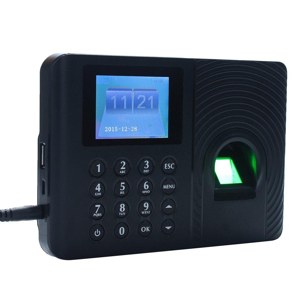 KKmoon Biométrico de Asistencia Máquina,Registrador de Cheques del Empleado, Pantalla de 2.4 Pulgadas TFT LCD,Negro: Amazon.es: Bricolaje y herramientas