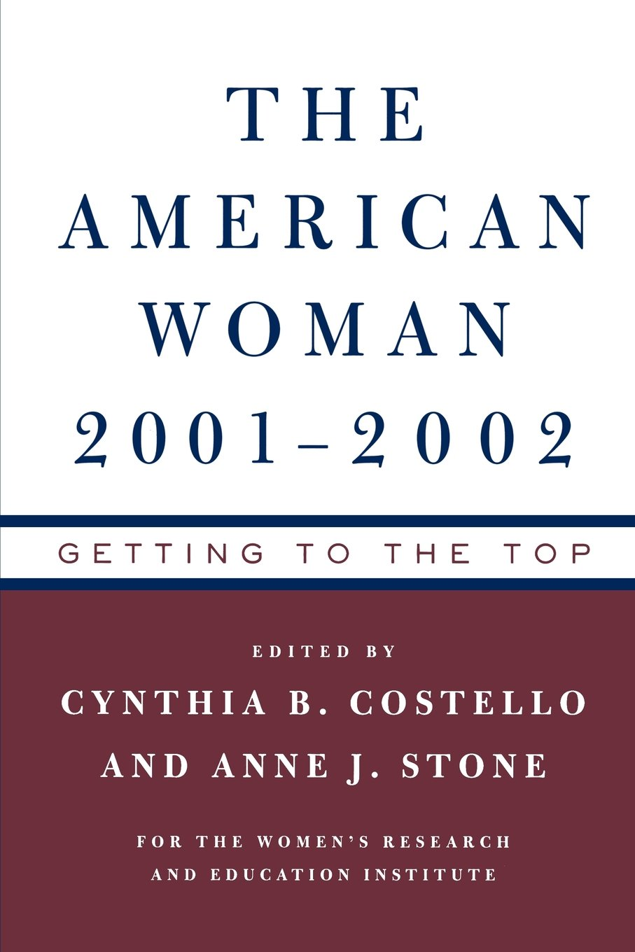 Download The American Woman 2001-02: Getting to the Top PDF