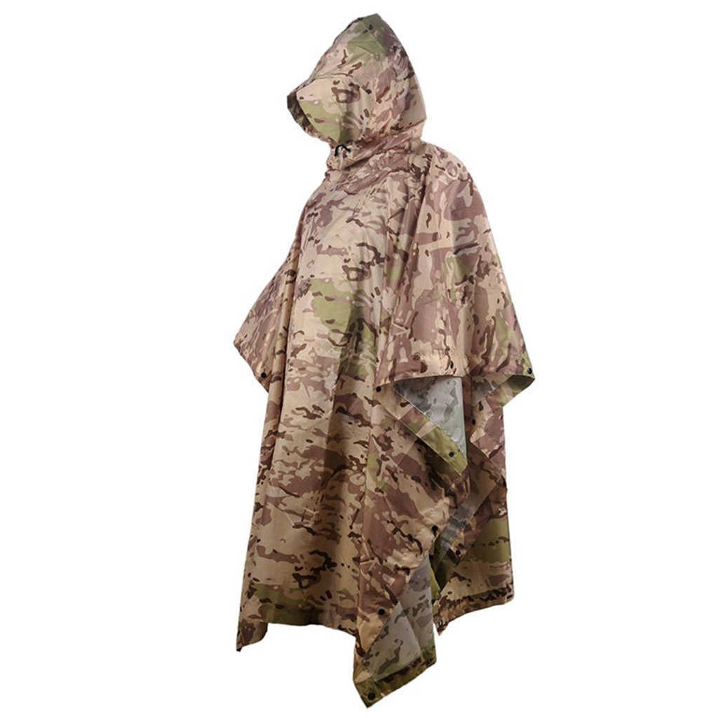 LYP-Rainwear Portable Raincoat Suit Outdoor Camouflage Raincoat Jungle Concealed Multi-Purpose Poncho Mat Multi-Purpose Environmental Protection Hidden Clothes for Outdoor Walking Cycling (Color : B) by LYP-Rainwear