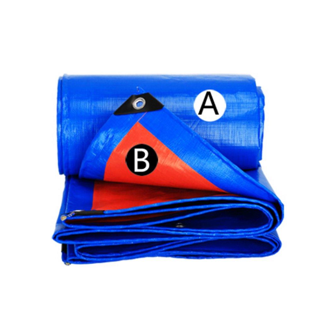 A 33 LQQGXL épaissir la bÂche extérieure bÂche imperméable à l'eau de bÂche de Prougeection de Voiture de bÂche de Prougeection Solaire Anti-vieillisseHommest, Bleu + Orange BÂche imperméable &agr