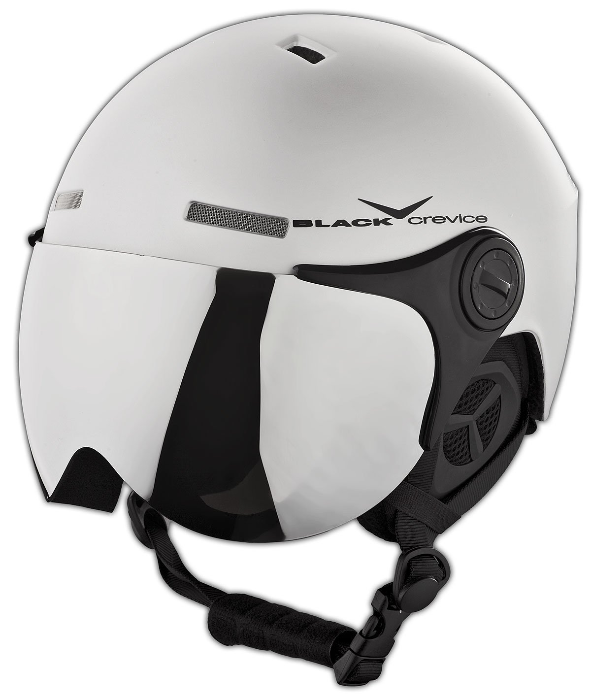 Black Crevice Skihelm - Casco de esquí, color Plata Mate/Negro (Matt Silver/Black), talla S/M (54-57 cm)