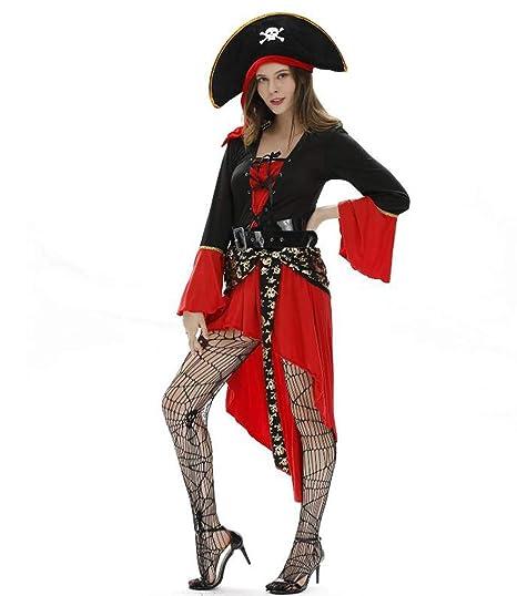 MSSugar Vestido de Pirata de Mujer Adulta Disfraz de Cosplay ...