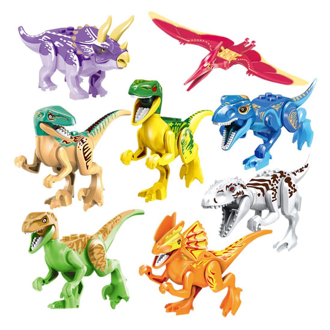 15000P 8St. 3D Puzzle Spielzeug Dinosaurier Figuren Jurassic World Bausteine Adventskalender Inhalt für Kinder