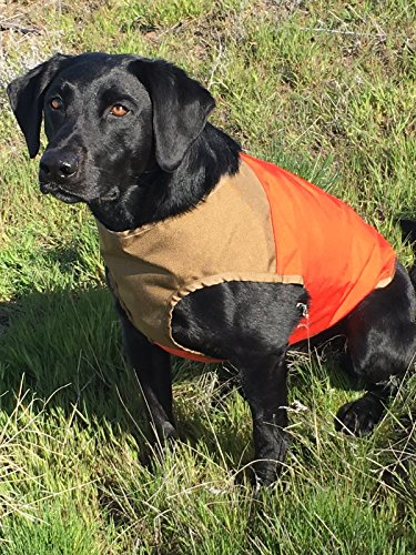 CUGA VEST Serious Protection for The Active Dog (MED, Orange/Tan)