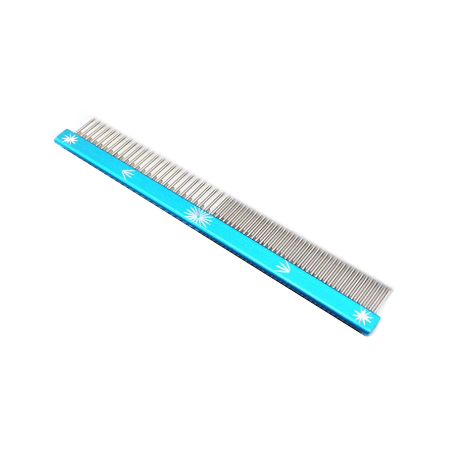 Go get it now Pet Dog Comb Dense Stainless Steel Grooming Comb for Dogs Salon,Blue,M