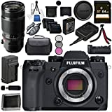 Fujifilm X-H1 Mirrorless Digital Camera (Body Only) 16568731 XF 50-140mm f/2.8 R LM OIS WR Lens 16443060 VPB-XH1 Vertical Power Booster Grip Bundle