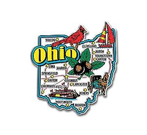 Ohio State Jumbo Map Magnet