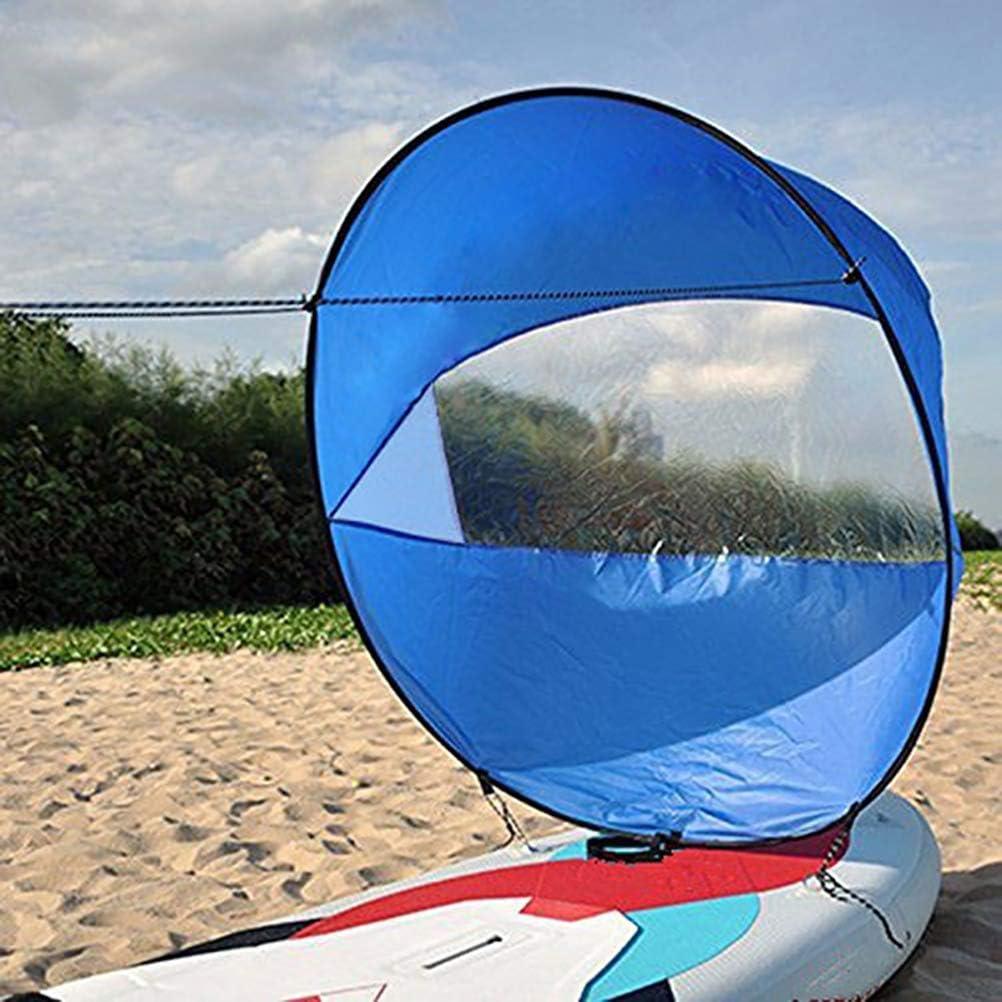 NIU MANG 42 inches Kayak Wind Sail Foldable Popup Board Paddle Downwind Sail Kit for Kayaks