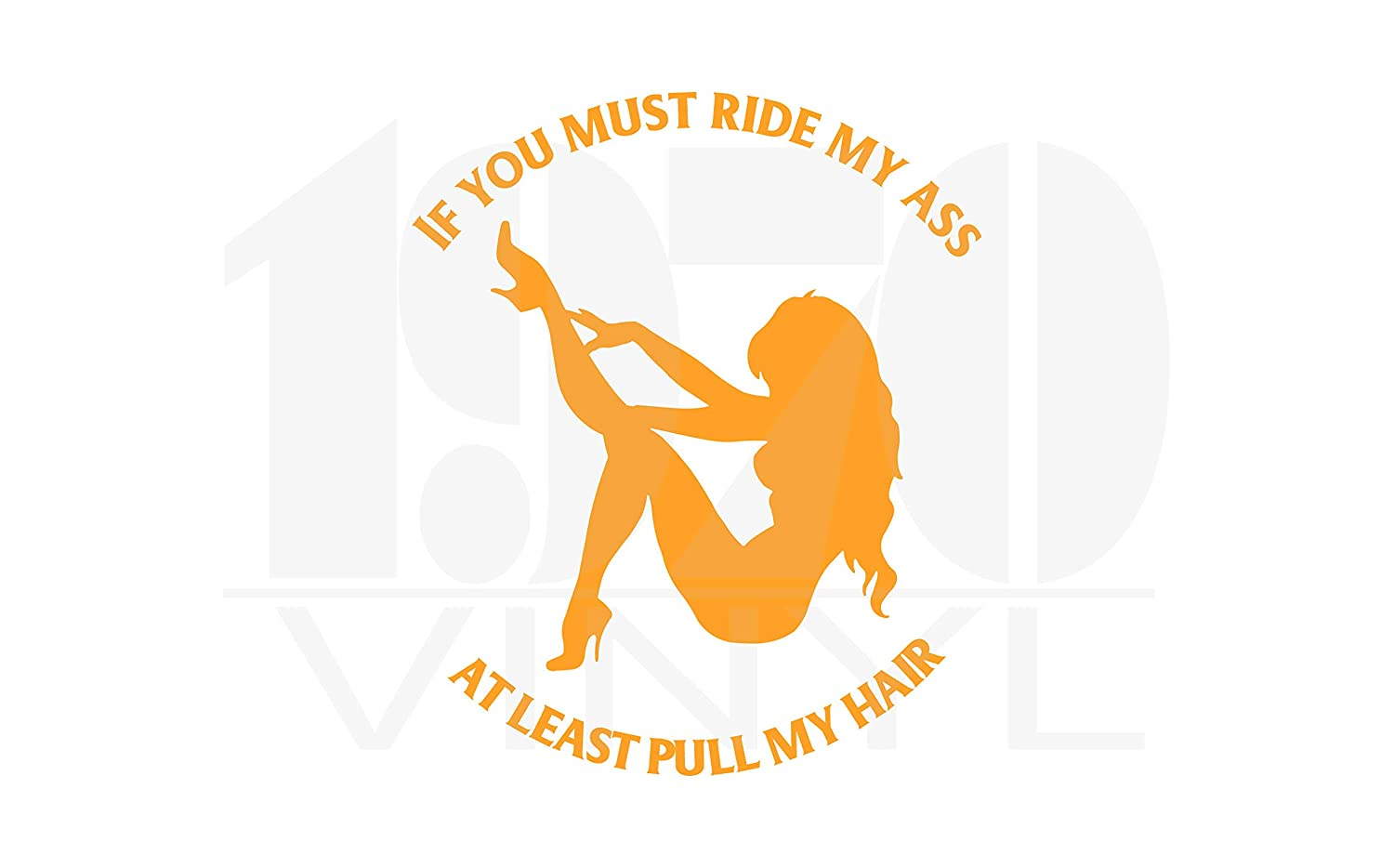 Window Decal If You Must Ride my A** at Least Pull My Hair Vinyl Decal