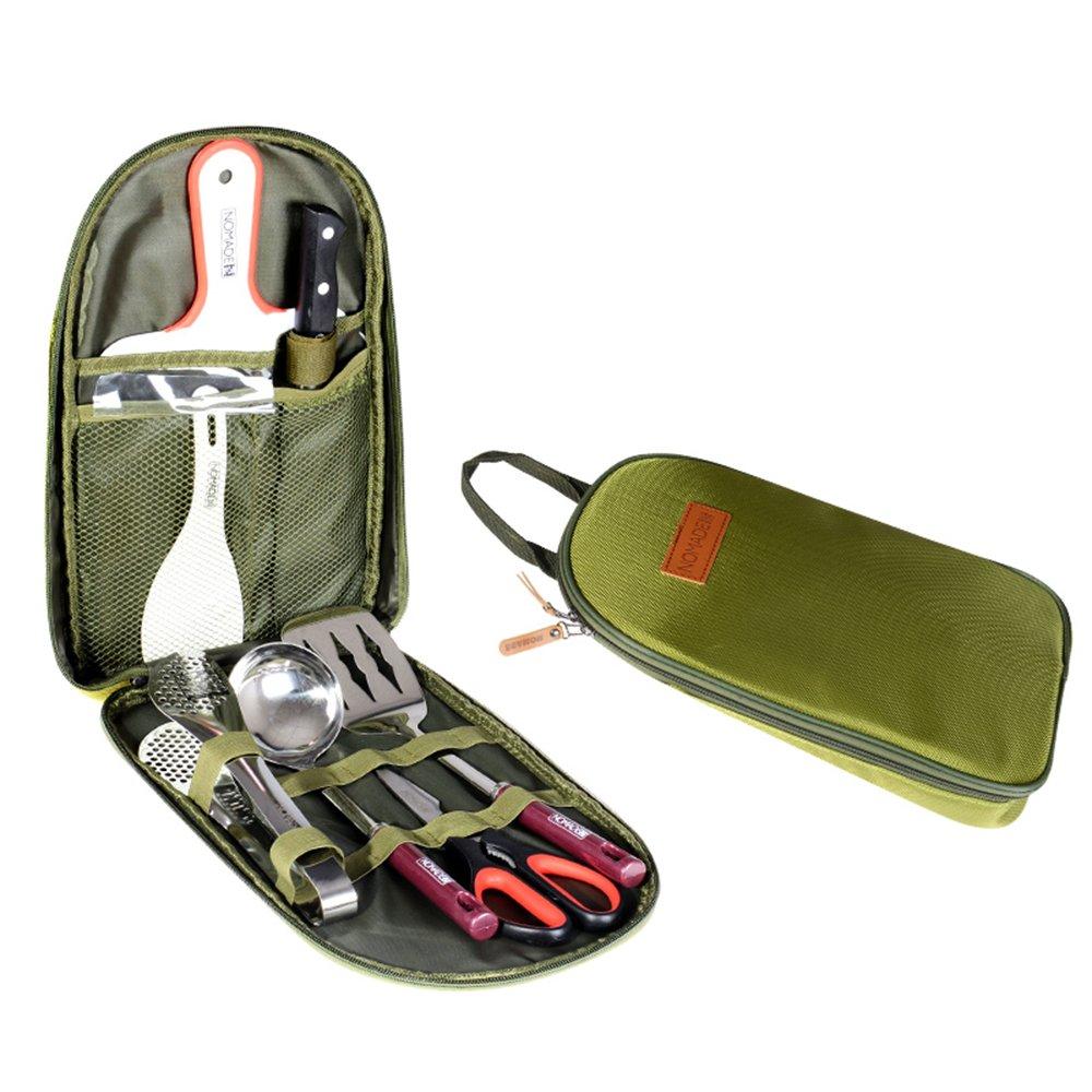 LYGOD Outdoor Kochausrüstung Kochgeschirr Kochtopf Campinggeschirr 7-Teiliges Kochtopf Kochgeschirr Set Kochausrüstung & Edelstahl Campinggeschirr cee8f1