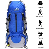 Hiking Backpack, Travel Hiking Daypack Waterproof Outdoor Trekking Bag 50L For Climbing Camping Mountaineering Skiing