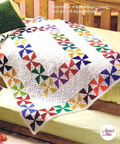 Spinning Scraps Afghan - One Crochet Pattern - Annie's Scrap Crochet Club - #SCC22 - 2005