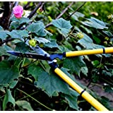 TELESCOPING 22'' HEDGE CLIPPERS - Sharp, Easy to Use Carbon Steel Garden Shears Absorb Shock, Resist Corrosion - Hardened Manual Telescoping Hedge Trimmer for Professional Gardening and Landscaping