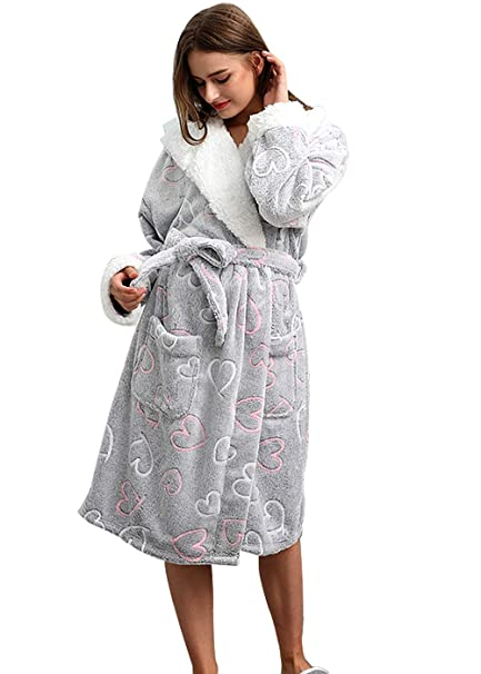 d8eeb913794e Bong Buy Women s Cute Totoro Bathrobe Robe- Soft Plush Comfy House  Sleepwear(greym