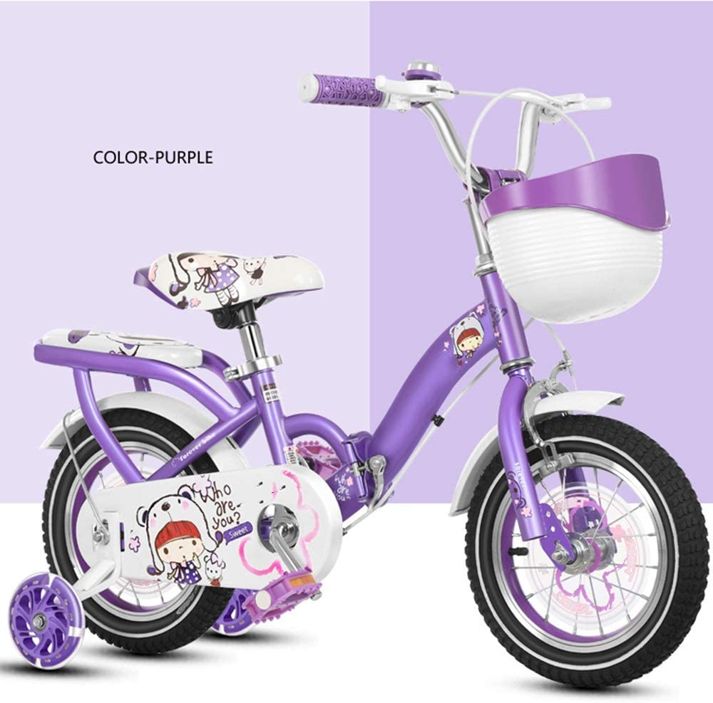 Purple Suitable for Children 2-11 Years Old Pink Llpeng Kids Bikes Childrens Bicycle12//14//16//18//20 Inch Boys and Girls Cycling Color : PINK, Size : 18in